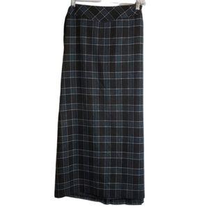 Cato Full Length Plaid Skirt Size 18W Lined